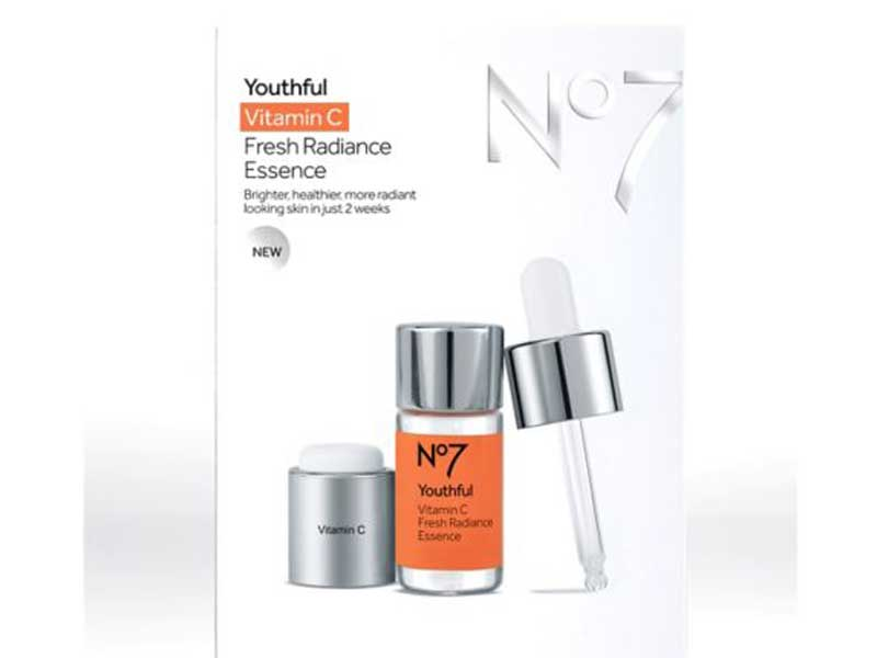 No7 Youthful Vitamin C Fresh Radiance Essence at Boots Pharmacy available at City Centres