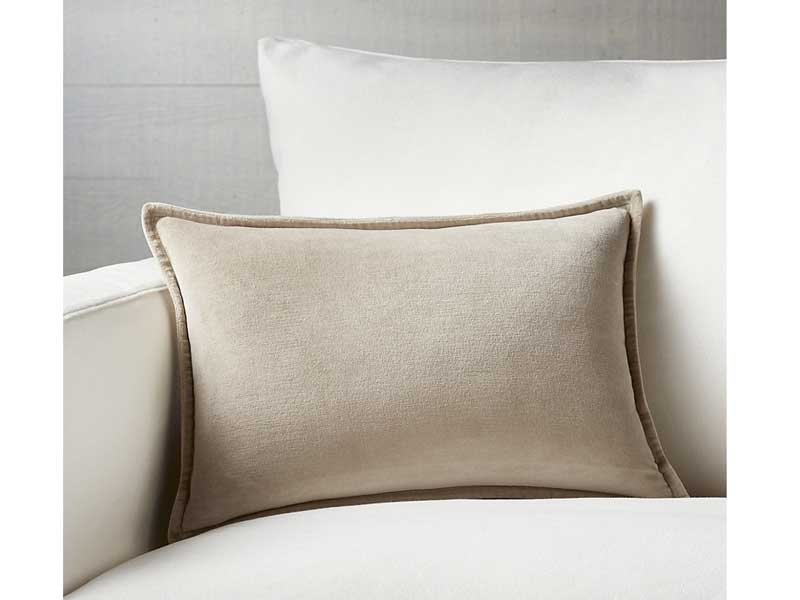 Velvet pillow by Crate & Barrel at Mall of the Emirates and City Centre Mirdif