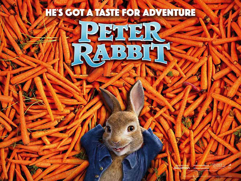 Peter Rabbit movie poster, Vox Cinemas in Ajman