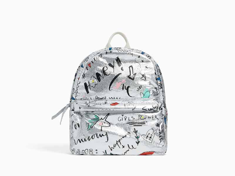 ea0f626f916a Silver backpack by Zara Kids available at Mall of the Emirates and City  Centres