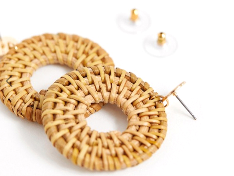Gold and raffia earrings from Aldo Accessories, visit City Centre Ajman
