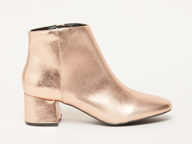 Metallic ankle boots, from Shoemart, Centrepoint, City Centre Ajman